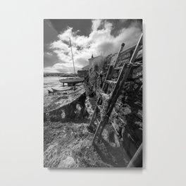 Estuary Steps Metal Print