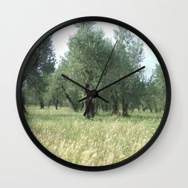 Olive Grove Wall Clock