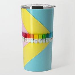 Happy little rainbow pills Travel Mug