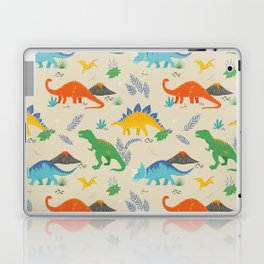 Jurassic Dinosaurs in Primary Colors Laptop & iPad Skin