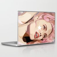 bubblegum Laptop & iPad Skins featuring Bubblegum  by Grace Teaney Art