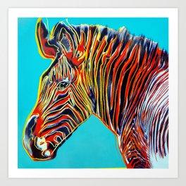 Zebra 69 - Vintage pop Art Print Art Print