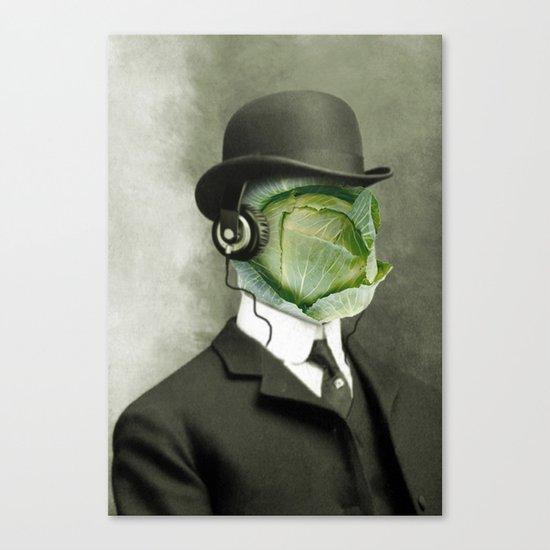 Bowler cabbage Canvas Print