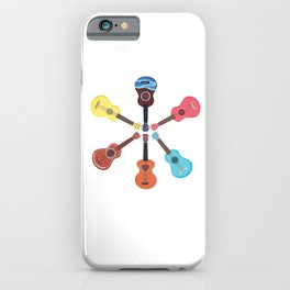 Cute Ukelele Instrument Graphic Art For Musician iPhone Case