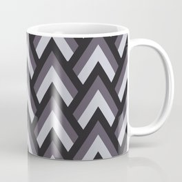 Mid Century Modern Triangles (Charcoal) Coffee Mug