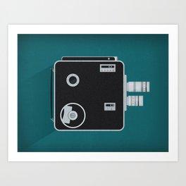 Movie Camera Art Print