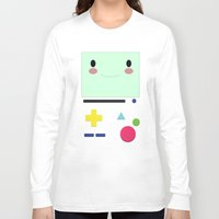 bmo Long Sleeve T-shirts featuring BMO!!  by anthonykun