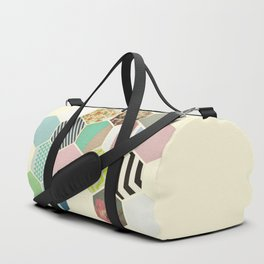 Florals and Stripes Duffle Bag