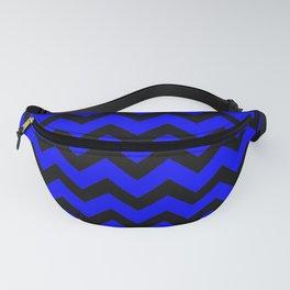 Chevron (Black & Classic Blue Pattern) Fanny Pack