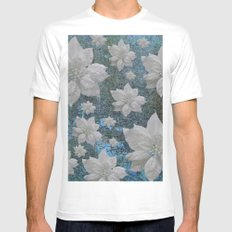 POINSETTIA Mens Fitted Tee MEDIUM White
