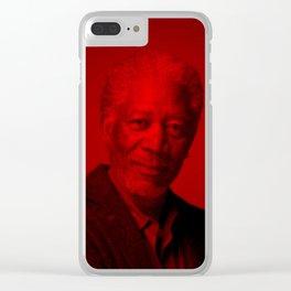 Wallup - Celebrity (Florescent Color Technique) Clear iPhone Case