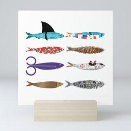 Sardines colored Mini Art Print