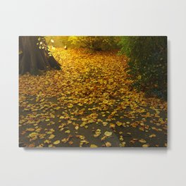 Unleaving Metal Print