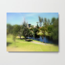 Adelaide Torrens River and CBD Metal Print