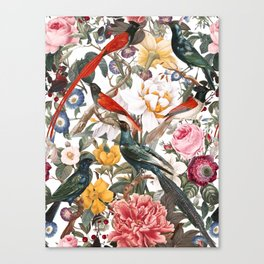 Floral and Birds XXXV Canvas Print