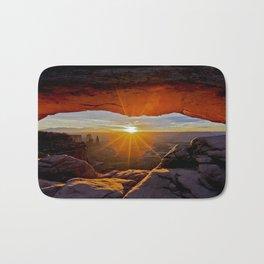 Mesa Arch Sunrise , Canyonlands Utah Bath Mat