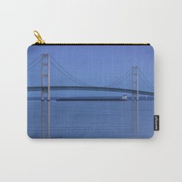 The Mackinac Bridge & the Great Lakes Freighter Carry-All Pouch