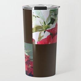 Mixed color Poinsettias 3 Blank Q3F0 Travel Mug