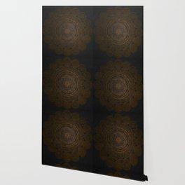 Circular Connections Copper Wallpaper