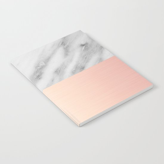 Real Italian Marble and Pink Notebook