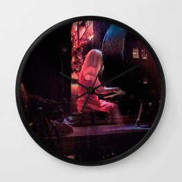 Woman Playing a Piano, B Wall Clock