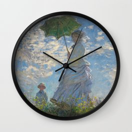 The Walk, Woman with a Parasol by Claude Monet Wall Clock