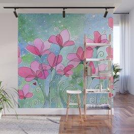 Celestial Strawberry Fluff Wall Mural
