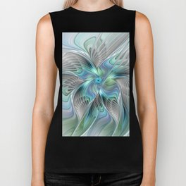 Abstract Butterfly, Fantasy Fractal Art Biker Tank