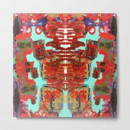 Aztec Space Golem Metal Print