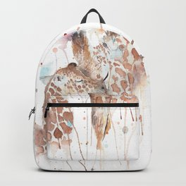 "Watercolor Painting of Picture ""Mother and Son"" Backpack"