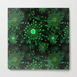 Black and green abstract pattern . Metal Print