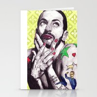 marc johns Stationery Cards featuring Marc Jacobs by Joseph Walrave