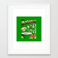 gremlins Framed Art Prints featuring Mogwai's Breakfast the after midnight snak by Faniseto