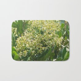 Flowers And Bees Bath Mat