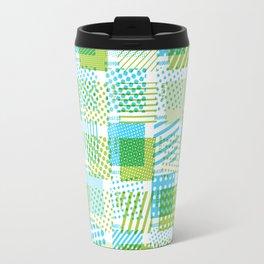 Halftone Moiré - Blue & Green Travel Mug