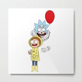 Morty and Rick — It Metal Print