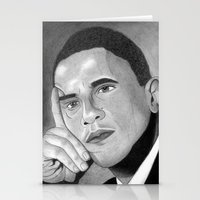 obama Stationery Cards featuring Obama  by Lupo Solitario