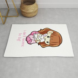 I dont wanna be big Little Ageplay ddlg girlfriend Rug