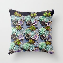 succulent cupcakes Throw Pillow