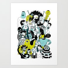 CROWD OF DUDES Art Print
