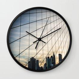 Brooklyn Web Wall Clock