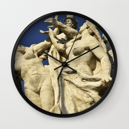 Roman Statues over the Tiber, Rome-Italy Wall Clock