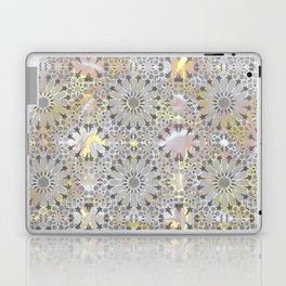 Grey Marble Stars Laptop & iPad Skin