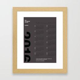 2016 Calendar | Silver Framed Art Print