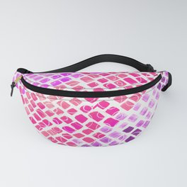Purple Watercolor Tiles Mosaic Square Colourful Abstract Art Fanny Pack