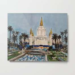 Oakland California LDS Temple Dusk Metal Print