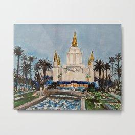 Oakland California LDS Temple Dusk Metal Print