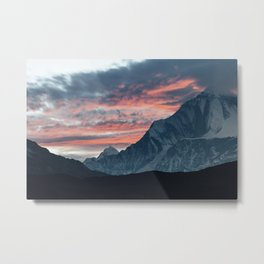 Sunset in the himalayas. Metal Print