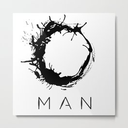 Arrival - Man Black Metal Print