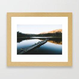 Rainbow Lake Sunrise II Framed Art Print